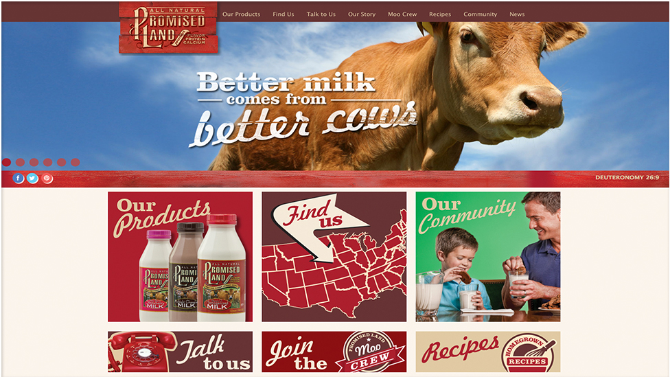 Promised land dairy homepage